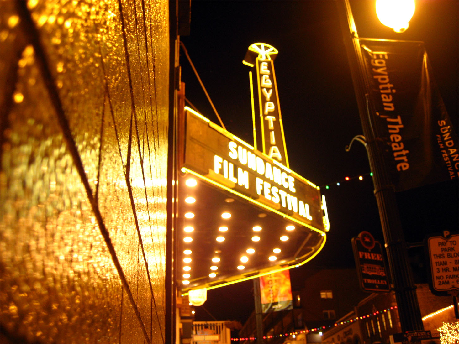 The iconic movie theater that plays host to Sundance, featuring award-winning movies and short films.
