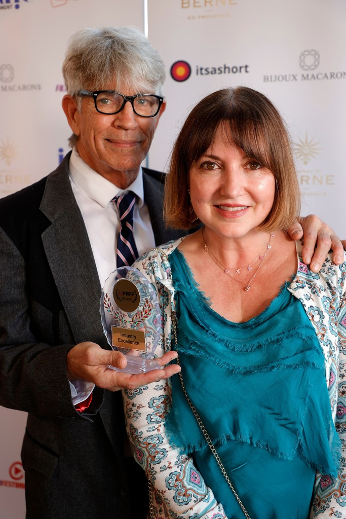 Actor Eric Roberts and Nicole Goesseringer Muj of the French Riviera Film Festival